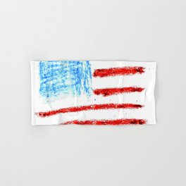 Flag of Usa 3 Chalk version- america,us,united states,american,spangled,star and strips Hand & Bath Towel