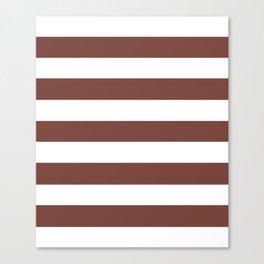 Bole - solid color - white stripes pattern Canvas Print