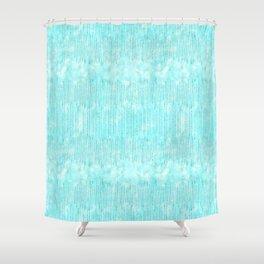 Abstract modern teal white watercolor brushstrokes pattern Shower Curtain