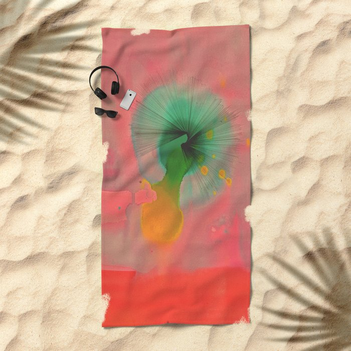 Center of Inattention Beach Towel