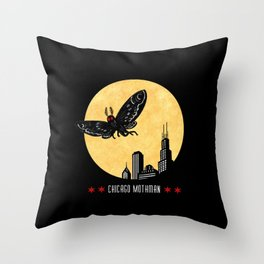 Chicago Mothman Throw Pillow