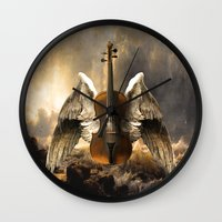 celestial Wall Clocks featuring Celestial Music by Diogo Verissimo