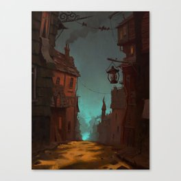 Spooky town Canvas Print