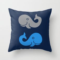 The Elephant & The Whale Throw Pillow