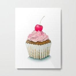 Cupcake watercolor Metal Print
