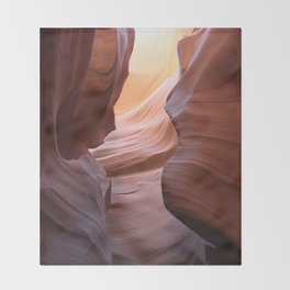 Amazing Antelope Canyon Throw Blanket