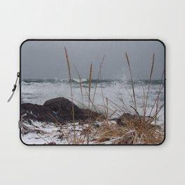 Winter Surf From a Frozen Sea Laptop Sleeve