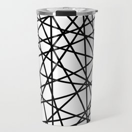 Lazer Dance Black on White Travel Mug