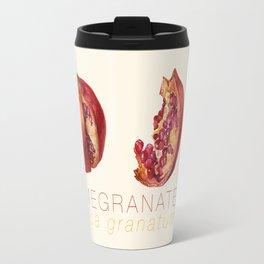 Pomegranate, Punica granatum Travel Mug