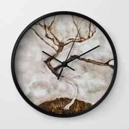 Small Tree in Late Autumn by Egon Schiele Wall Clock