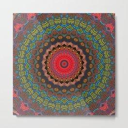 Basal Color Mandala 2 Metal Print