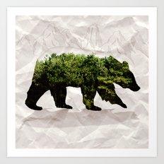 Backt to Nature: Mountain Bear Art Print