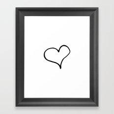 Ink Heart Framed Art Print