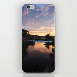 red brick factories black river Springfield Vermont at sunset iPhone Skin