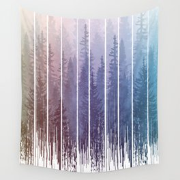 Grunge Dripping Rainbow Misty Forest Wall Tapestry