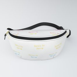 Love is Love / pansexual pride / seamless doodle pattern Fanny Pack