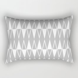 Mid Century Modern Diamond Pattern Gray 234 Rectangular Pillow