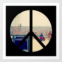 woodstock Art Prints featuring Woodstock 69 by Silvio Ledbetter