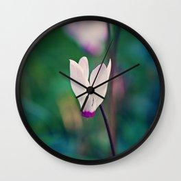 Wild Cyclamen Wall Clock