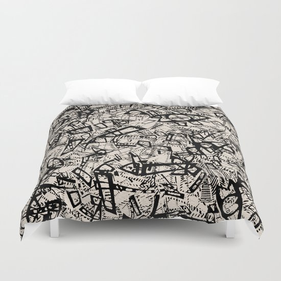 - newspaper - Duvet Cover
