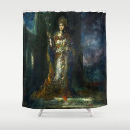 """Gustave Moreau """"The Fiancee of the Night (The Song of Songs)"""" Shower Curtain"""