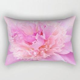 Pink Blush Peony Rectangular Pillow