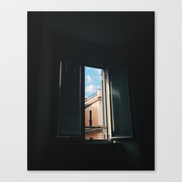 View From A Rome Window Canvas Print