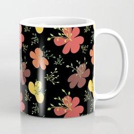 flor fondo negro1 Coffee Mug