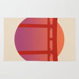Red Japanese Torri Gate - Sunset - Zen - Japanese Minimal - Religious Gate - Calm  Rug