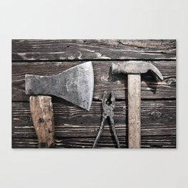 Old rusty tools Canvas Print