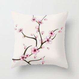 Cherry Blossom branch Throw Pillow