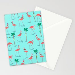 Christmas Flamingo Pattern Stationery Cards