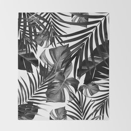 Tropical Jungle Leaves Pattern #10 #tropical #decor #art #society6 Throw Blanket