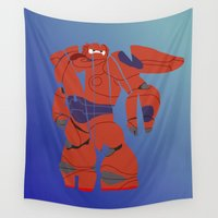 baymax Wall Tapestries featuring baymax armour by pokegirl93