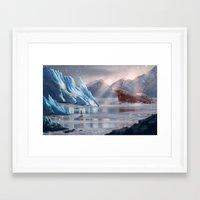 tomb raider Framed Art Prints featuring Tomb Raider: Antarctica by LaraRobsGraves