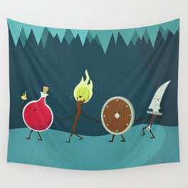 Let's All Go On an Adventure Wall Tapestry