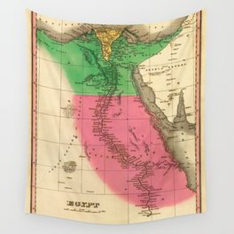 Map Of Egypt 1829 Wall Tapestry