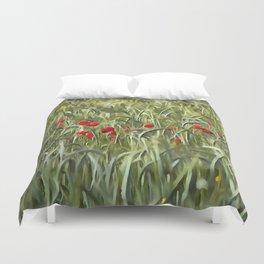 Cornfield Poppy Landscape Duvet Cover
