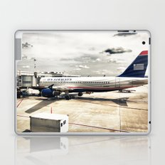 US Aiways Plane at Ronald Reagan Washington National Airport Laptop & iPad Skin