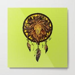 Totem animals: lion Metal Print