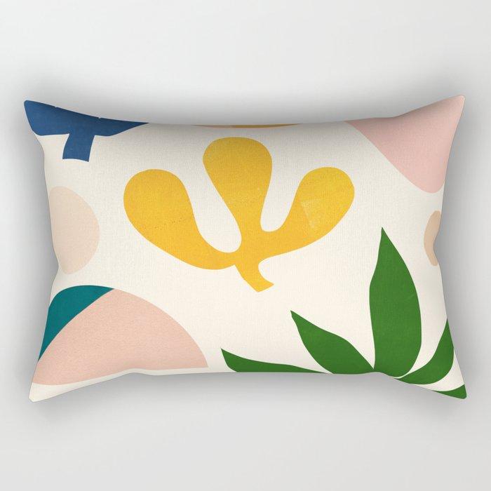 Abstraction_Floral_001 Rectangular Pillow