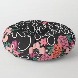 Best Wishes, Warmest Regards Floor Pillow
