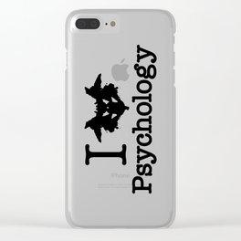 I Heart (Rorschach Inkblot) Psychology Clear iPhone Case