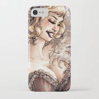 burlesque iPhone & iPod Cases featuring Burlesque by Simona Bonafini