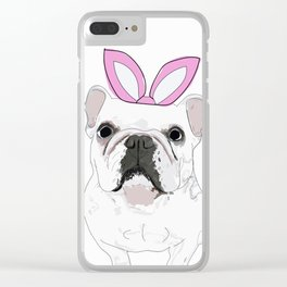 Happy Easter - Frenchie Bunny Clear iPhone Case