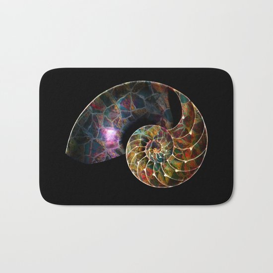 Fossilized Nautilus Shell Bath Mat