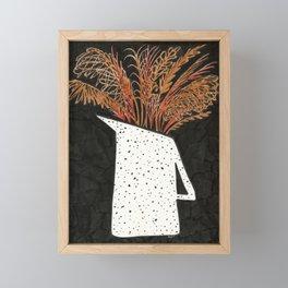 Autumn Still Life with Pampas Grass Framed Mini Art Print