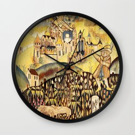 Limousin 16th Century French Tapestry Print Wall Clock