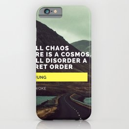 Carl Jung Order Chaos iPhone Case