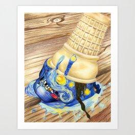 Dripping in Gogh (part 2) Art Print